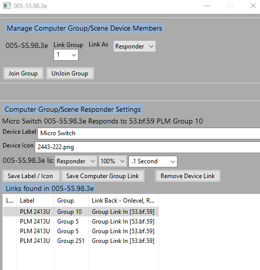 computer groups device setup view